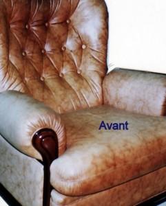 repigmentation du cuir, rénovation de vieux cuirs usagés, rénovation canapé, cuir aniline, cuir pigmenté, cuir pleine fleur,